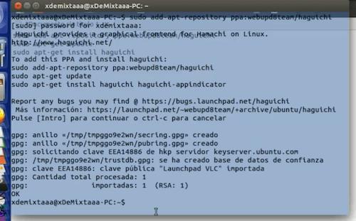 Comando en consola Linux