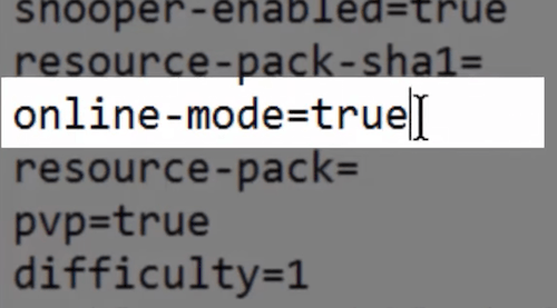 Parámetro Online_Mode